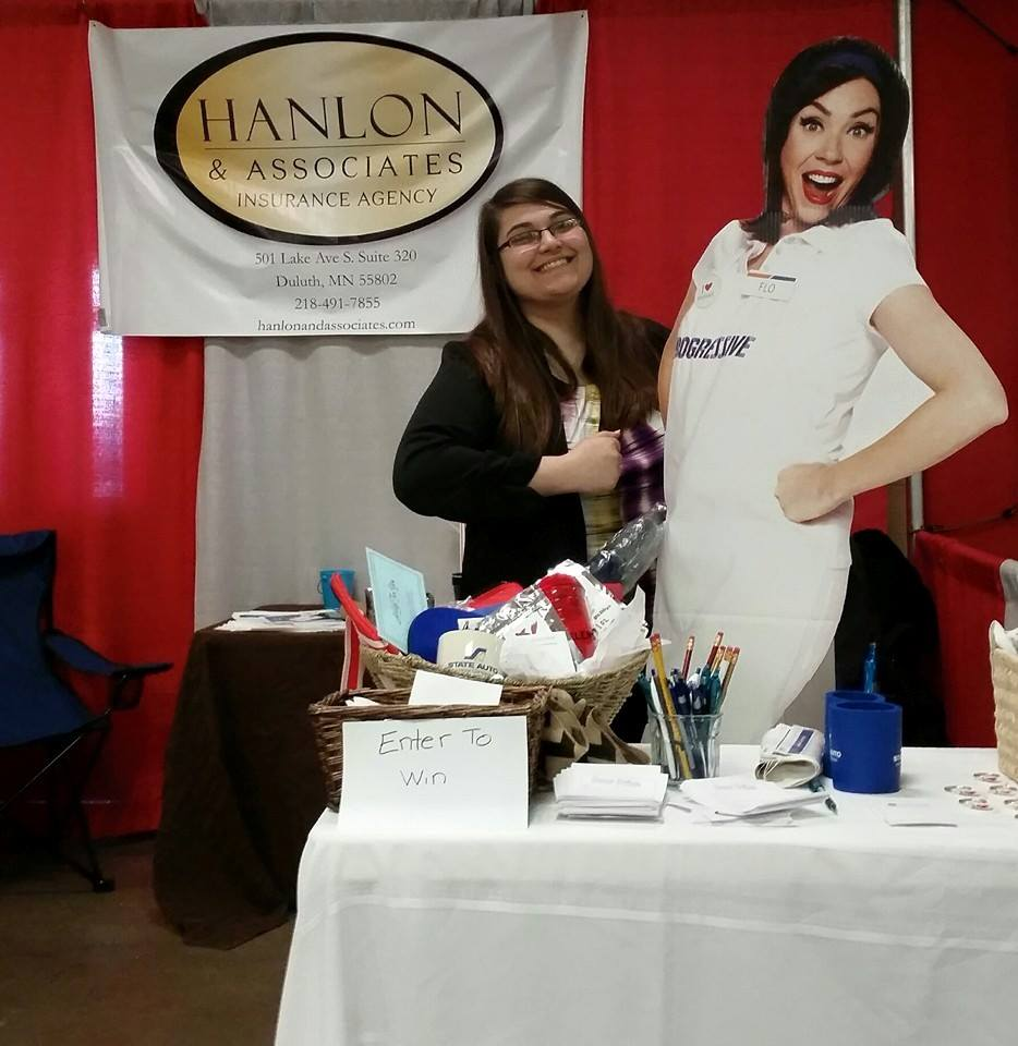 Kathryn the Intern at the Home Show Booth