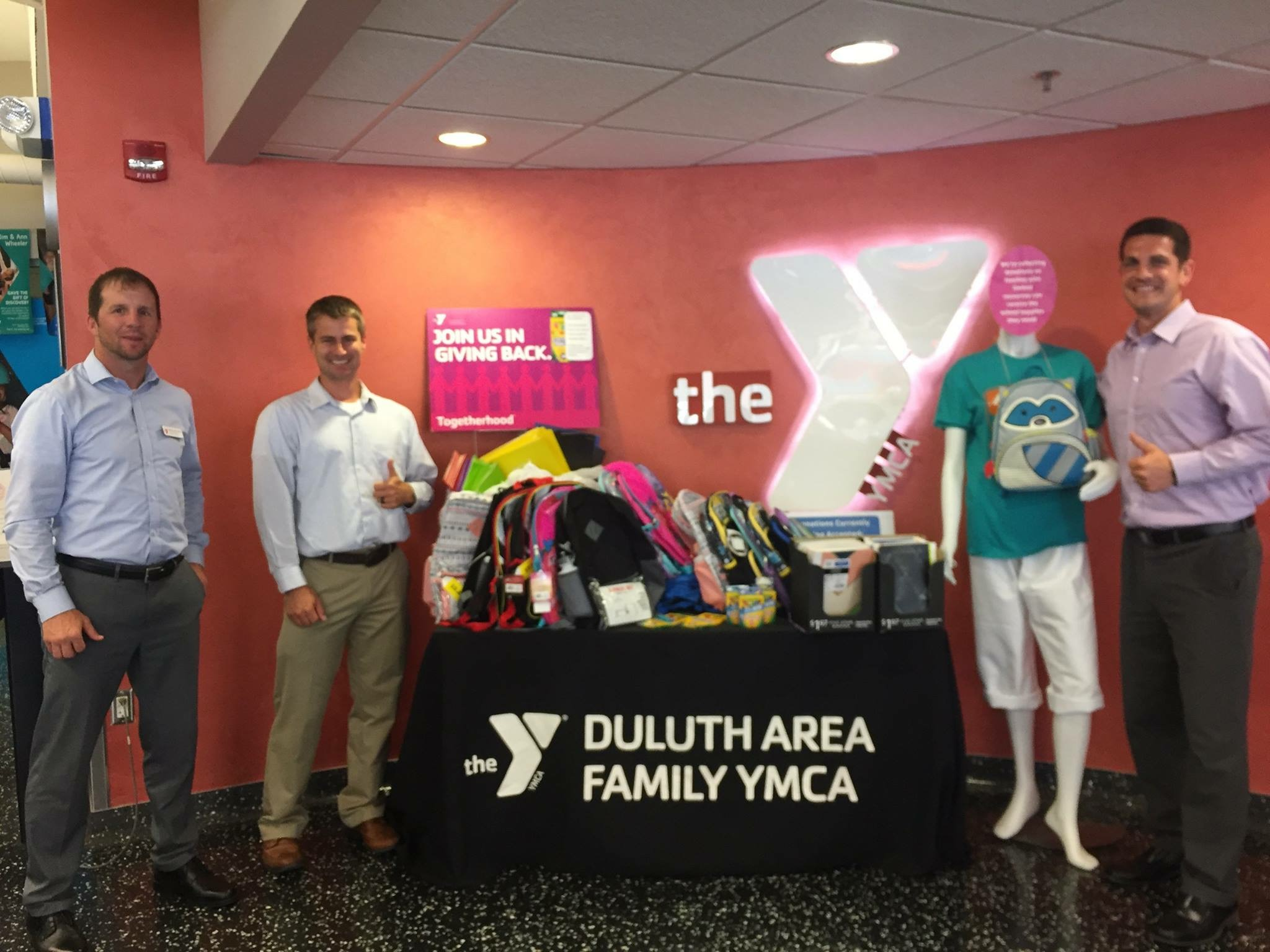 Backpack Drive for the Downtown Duluth YMCA