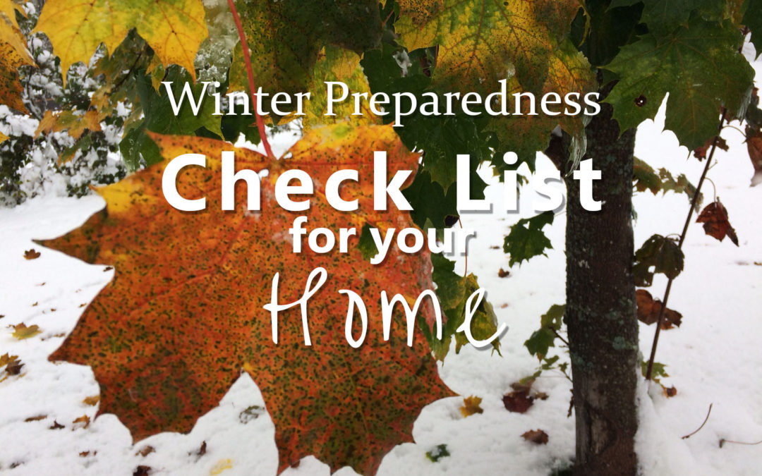 Winter Preparedness Check List for your Home