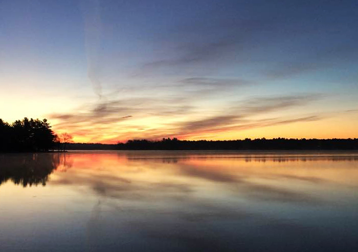 Sunset sunrise lake