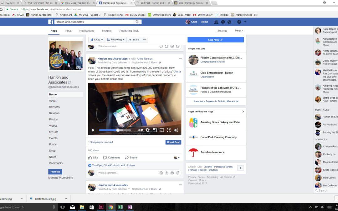 Inventory Hanlon and Associates Facebook