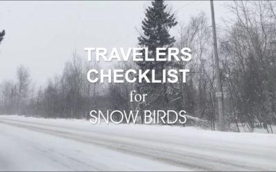 Check List for Snow Birds